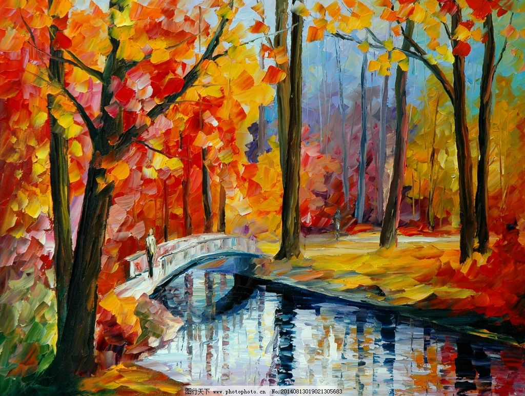 Leonid afremov winter stream