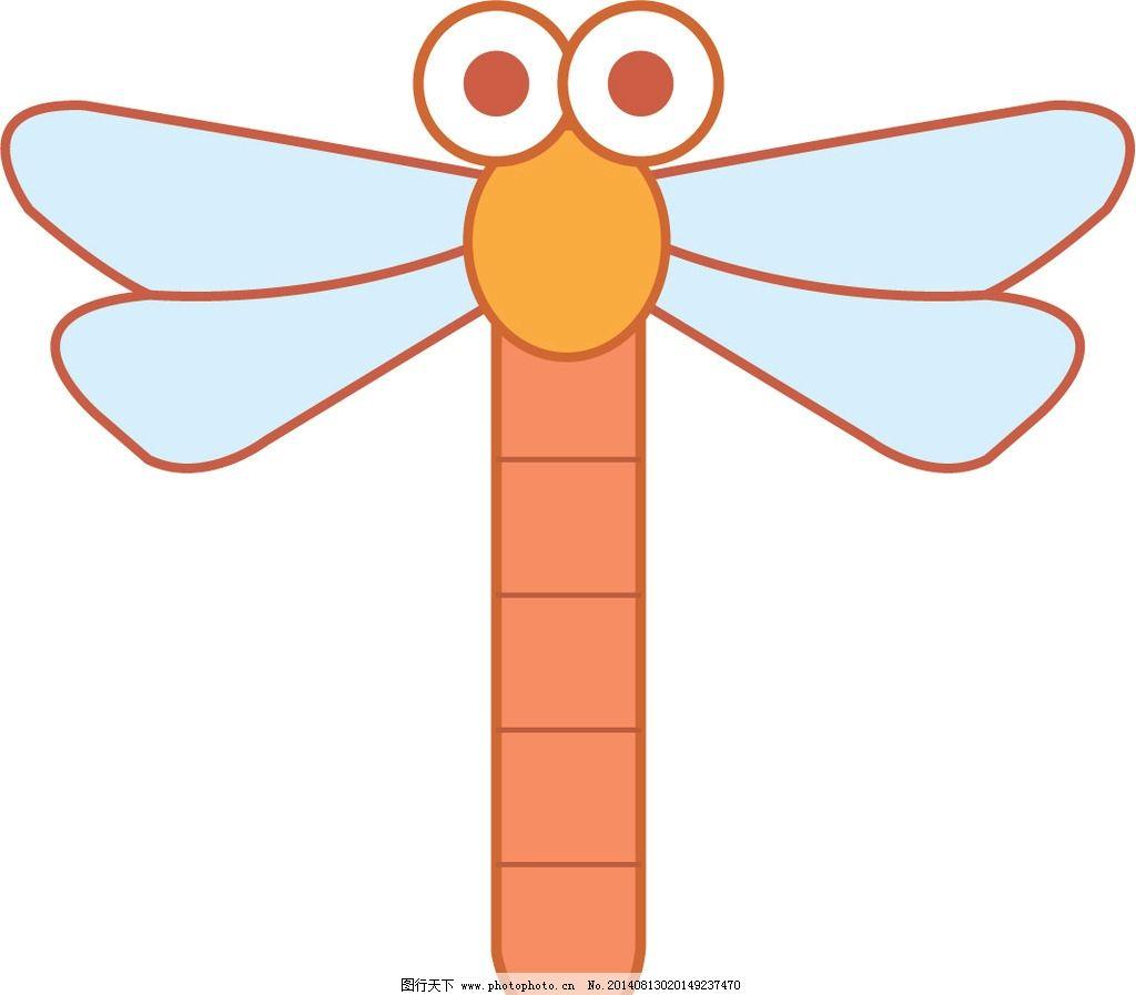小蜻蜓 昆虫 动物 矢量图 印刷 门贴 墙贴 卡通设计 广告设计 设计 ai