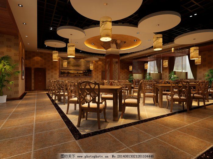 高端豪华的装修效果图免费下载 餐厅 吊顶 个性 座椅 个性 吊顶 座椅