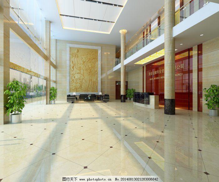 大廈大廳裝修效果圖免費下載