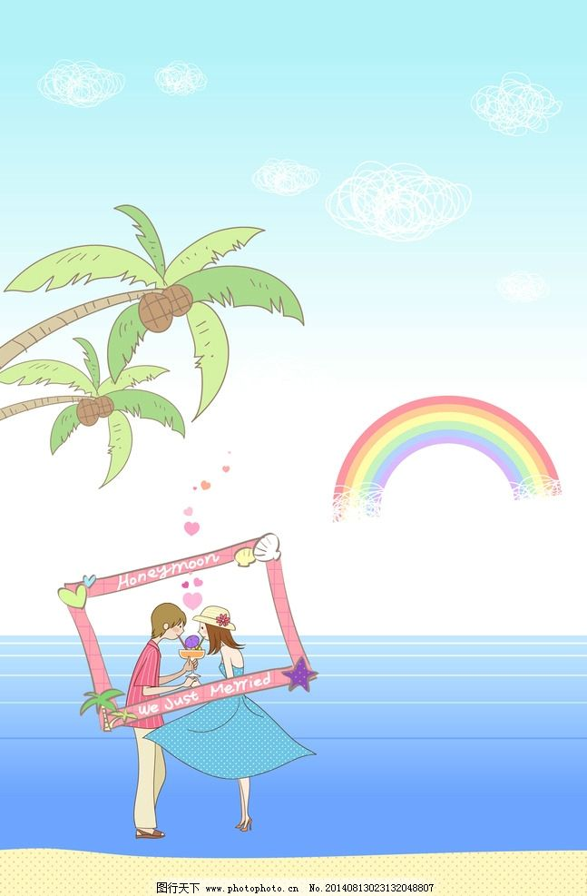 韩国卡通情侣图片_生活人物
