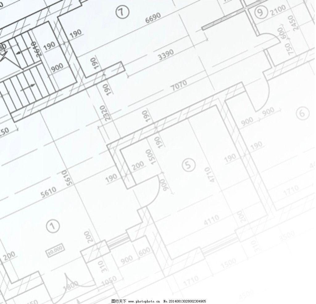 建筑平面设计图 建筑图纸 示意图 线框图 手绘 建筑背景 工程图纸