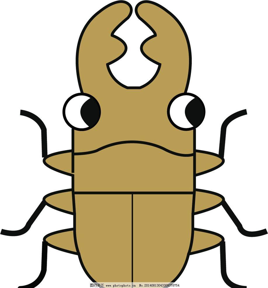 蜣螂图片,昆虫 动物 矢量图 印刷 墙贴 卡通设计-图行