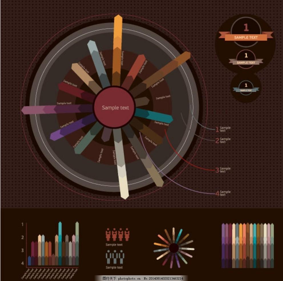 图表设计 版式设计 商务图表 信息图表 分类图表 统计图表 目录