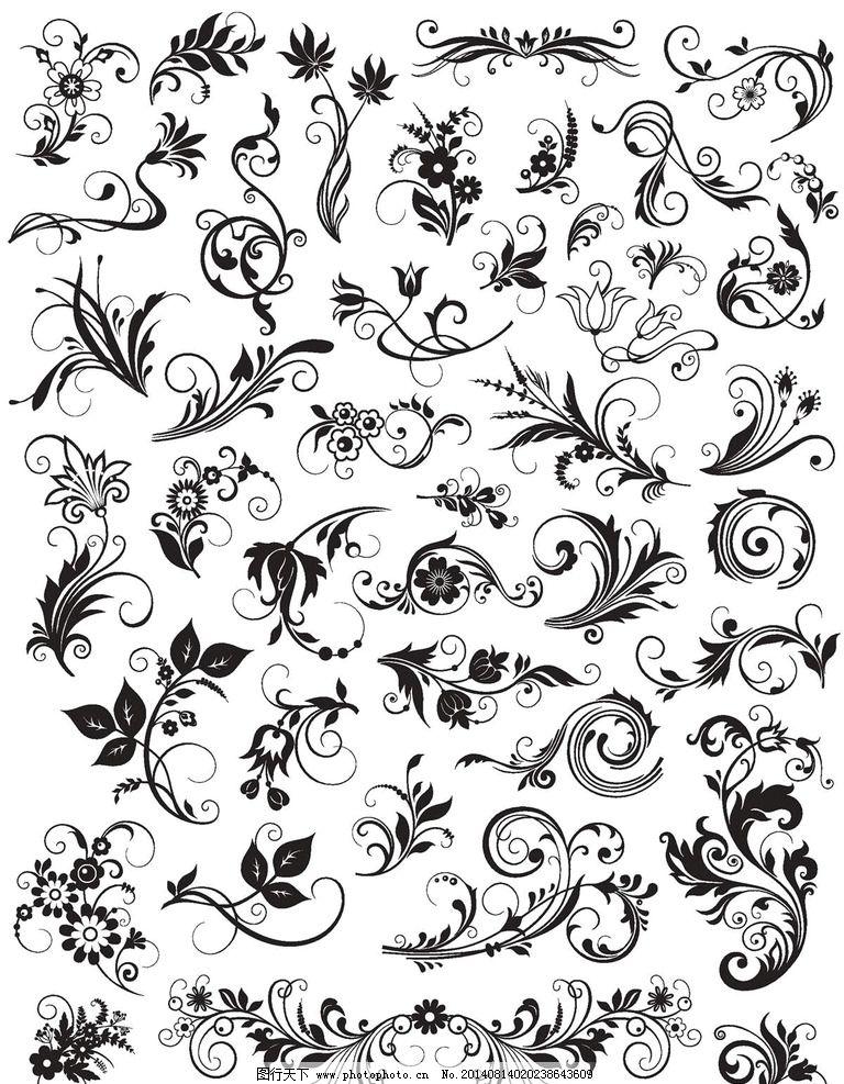 欧式花纹背景图片图片