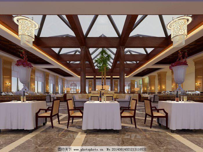 欧式西餐厅吊顶图片