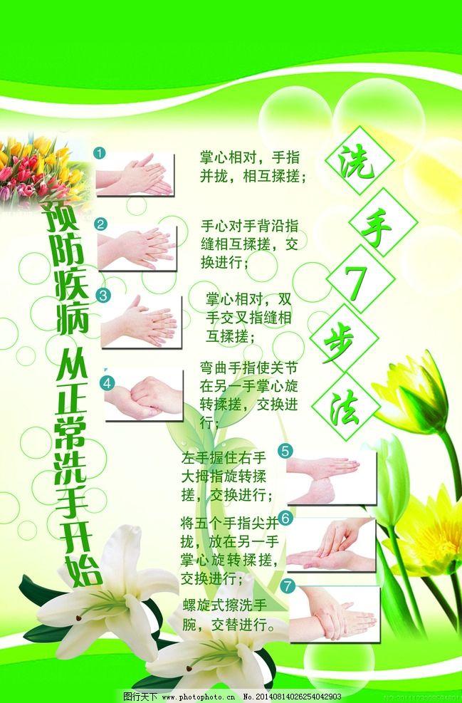 新七步洗手法图片
