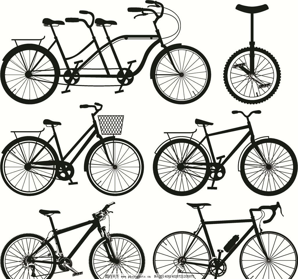 共享单车简笔画步骤