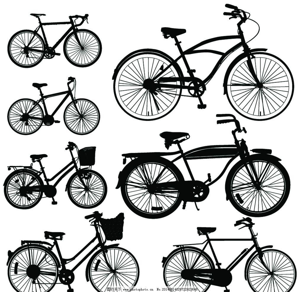 手绘自行车 自行车 单车 脚踏车 山地车 手绘 bike 自行车插画 交通