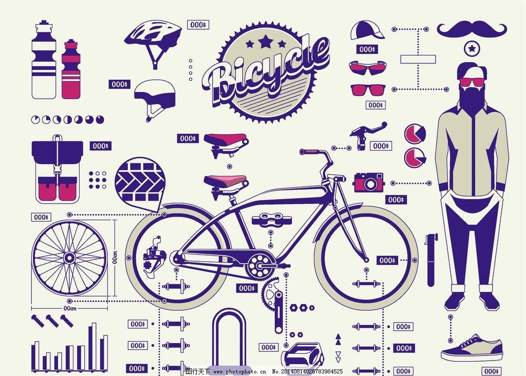 手绘自行车 自行车 单车