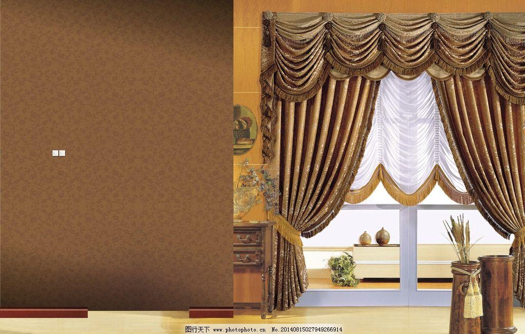 欧式门窗帘贴图