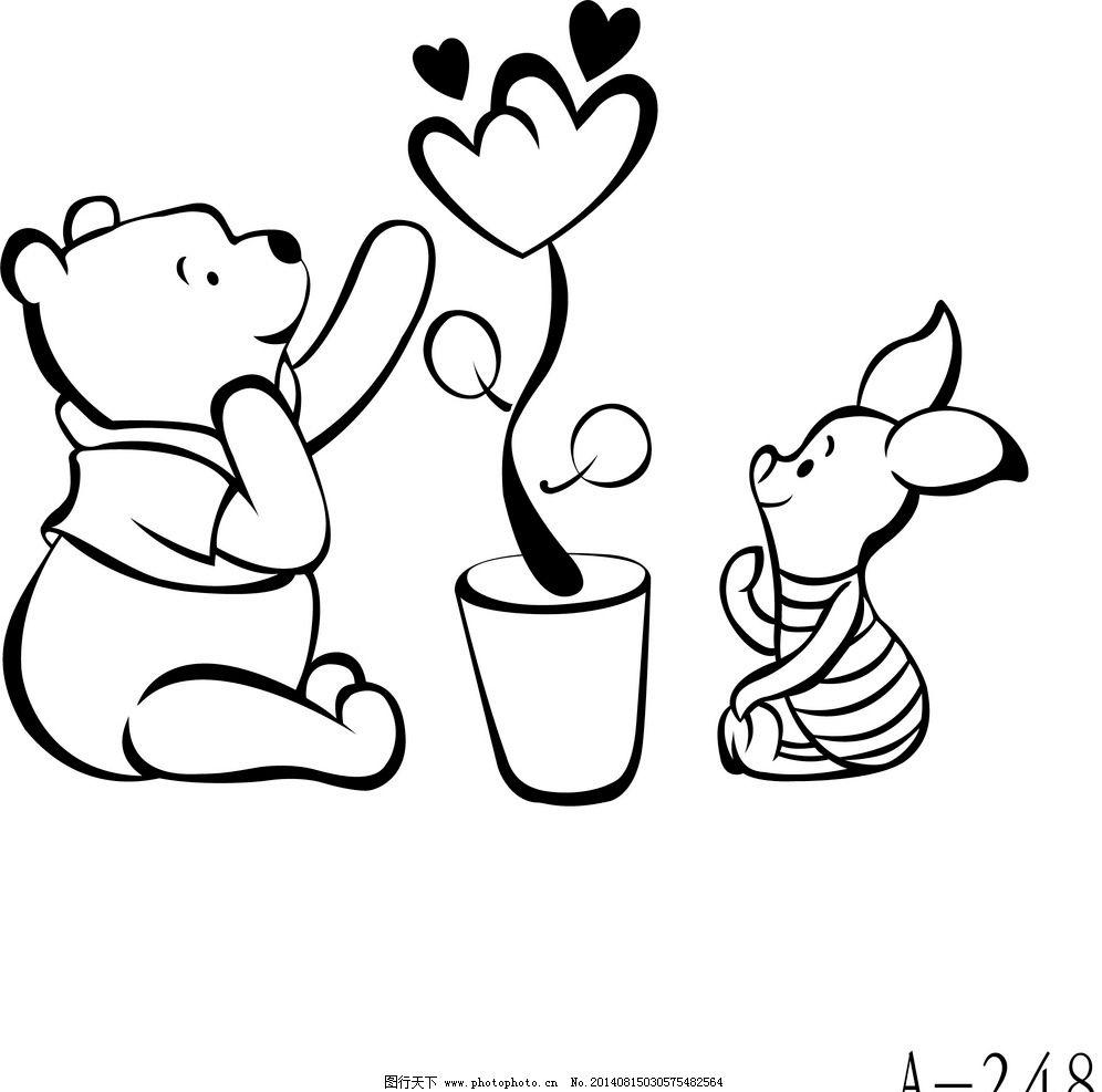 卡通小动物 硅藻泥素材 雕刻图 移门图案 ai矢量图 卡通设计 广告设计