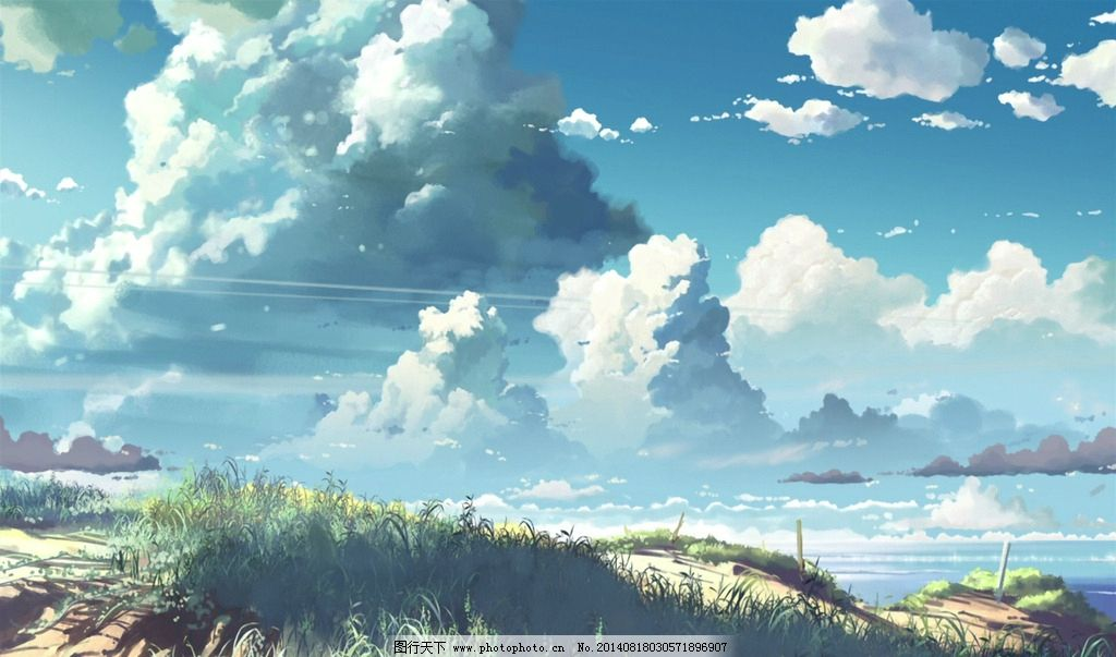 厚涂风景 绘画 云 光影 风景漫画 动漫动画