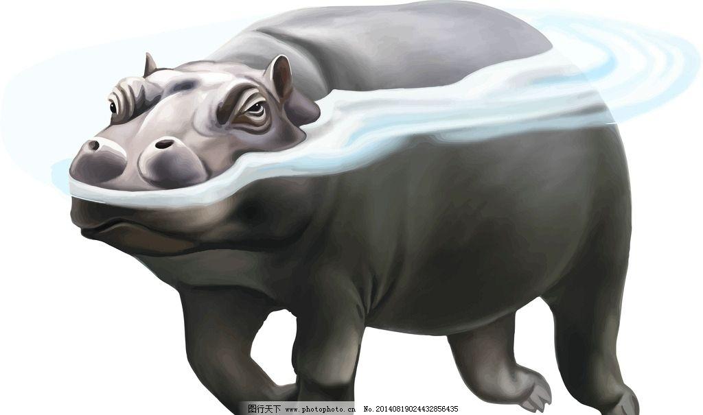 海马 手绘动物 保护动物 野生动物 生物世界 设计 eps
