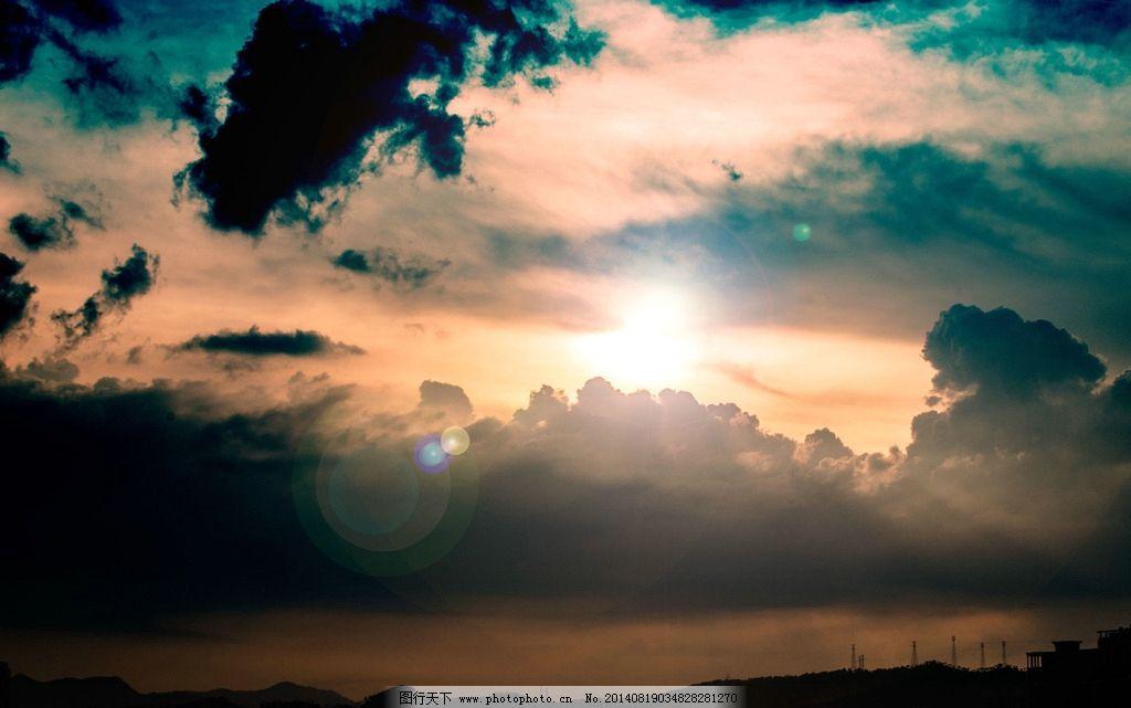 云彩 夏天 晚霞 夕阳 美 傍晚 云朵 自然风景 自然景观 摄影
