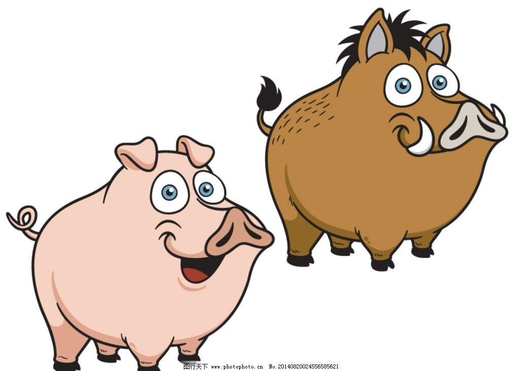 卡通猪 矢量猪 小猪 手绘猪 动物 时尚卡通 卡通形象造型 可爱卡通猪