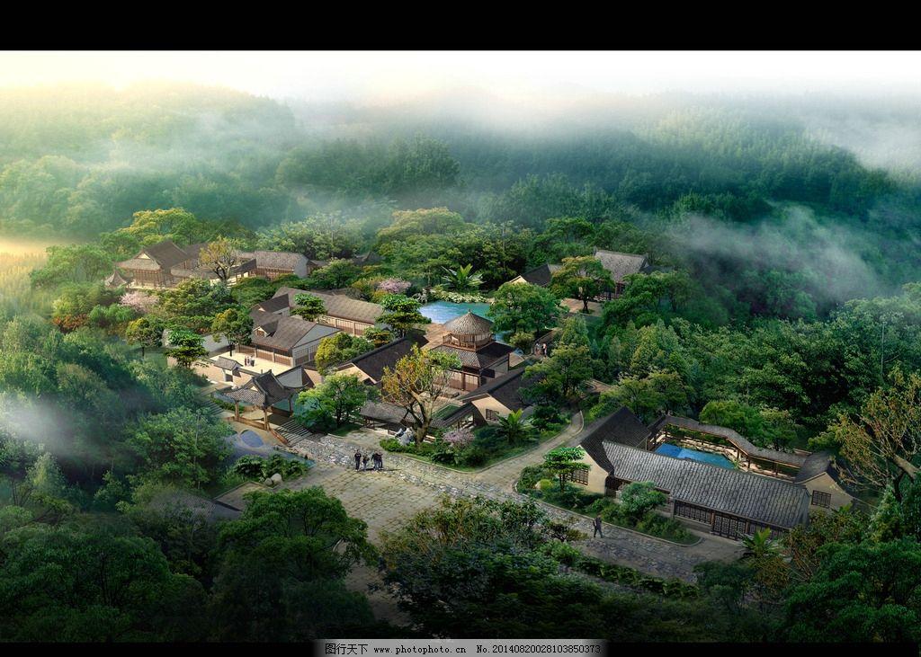 园林景观设计psd鸟瞰图片