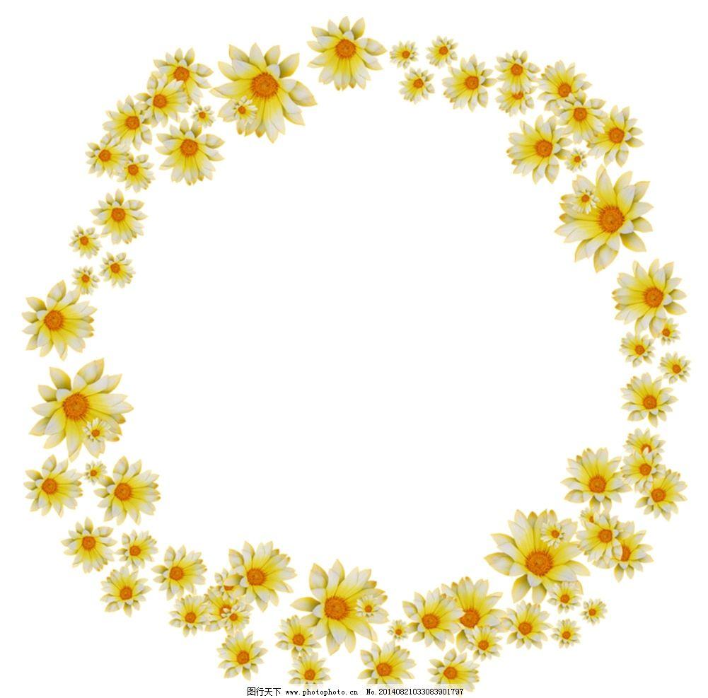 创意相框 个性相框 花卉边框 圆形相框 花纹相框 底纹边框 创意 欧式