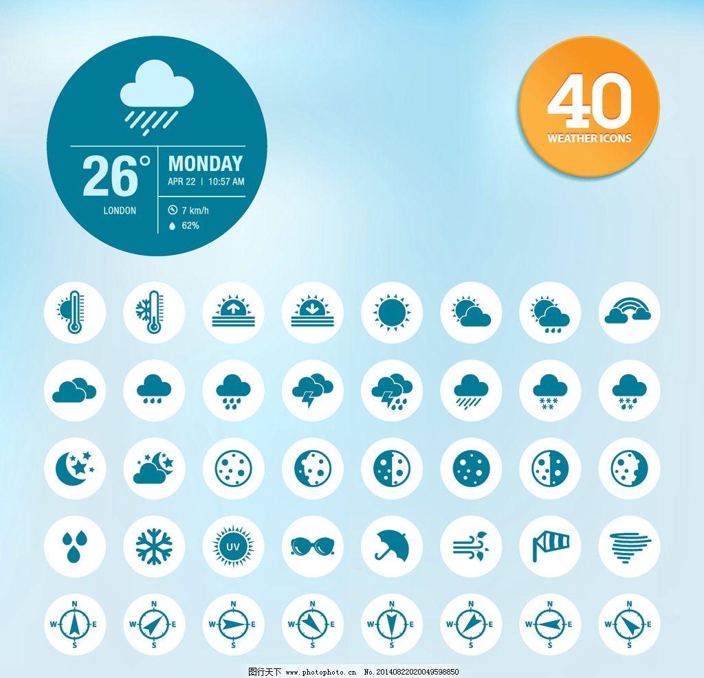 天气预报图标图片 网页小图标