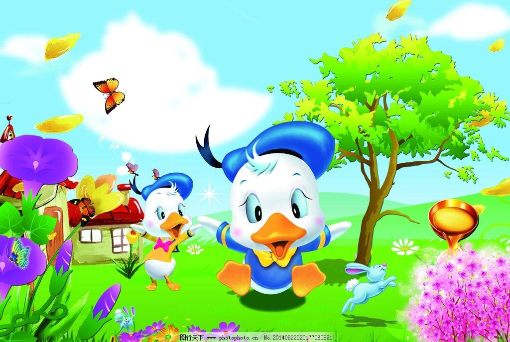 设计图库 标志图标 其他  卡通封面 卡通鸭子 动物 卡通动物 巧克力
