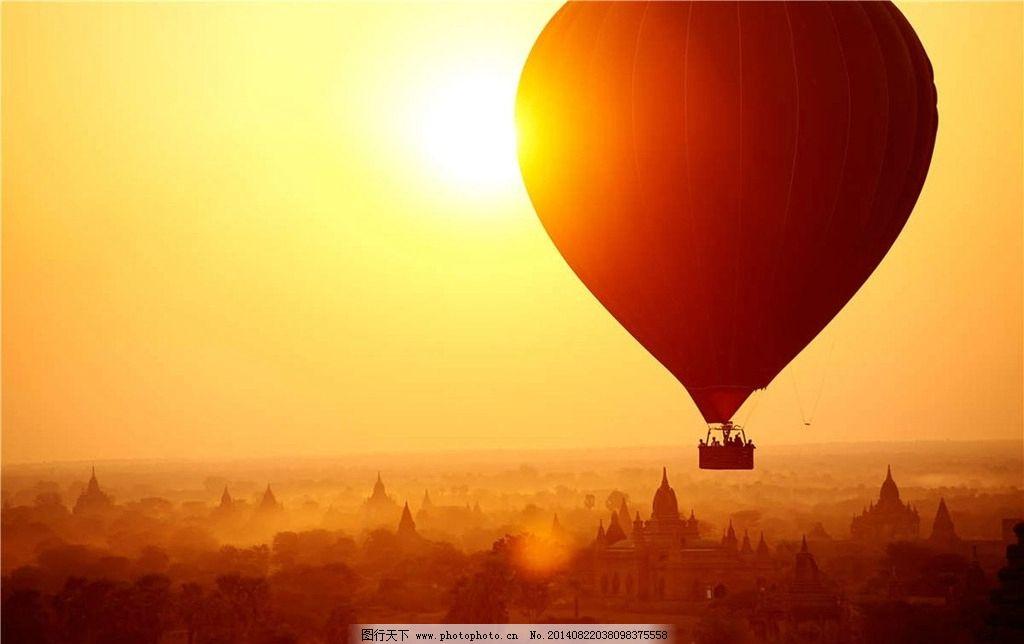热图-热气球 日出图片