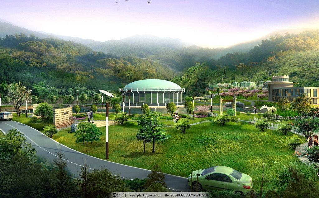校园生态建筑景观_生态园景观 采摘园图片