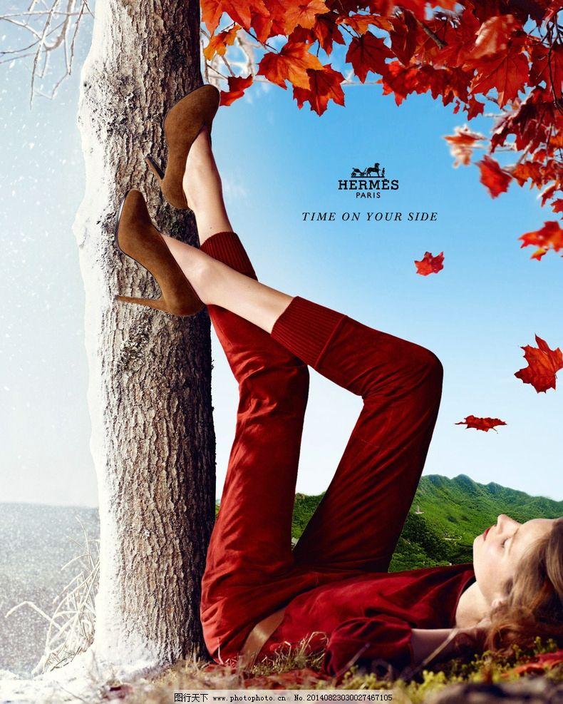 爱马仕女装广告宣传海图片,奢侈品 名牌 时装 奢华-图图片