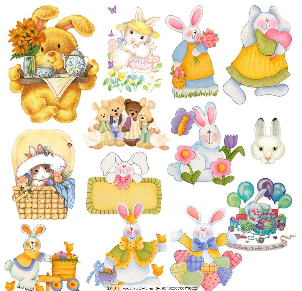 手绘卡通小兔 手绘小兔