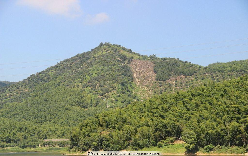 大山 树木 绿叶 水面 阳光 自然风景 自然景观 摄影 72dpi jpg