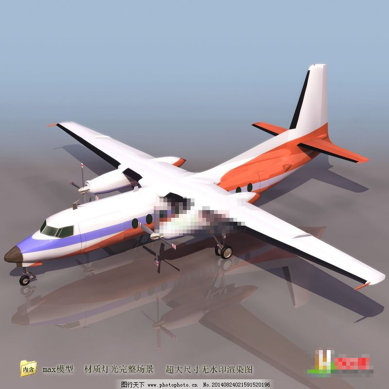 早期螺旋桨飞机模型免费下载