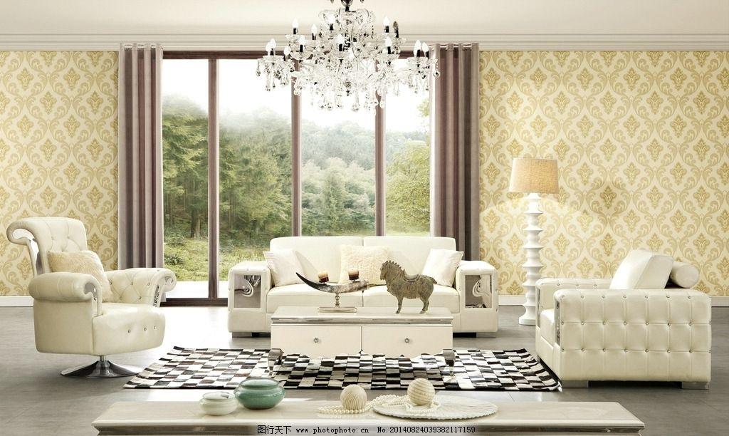 欧式沙发 沙发 真皮沙发 无缝墙布 壁纸 室内装修 墙布 墙纸 室内摄影