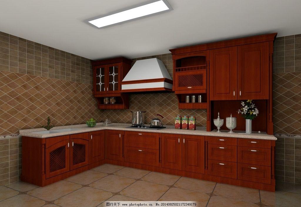 实木 深色 欧式 厨房 图片