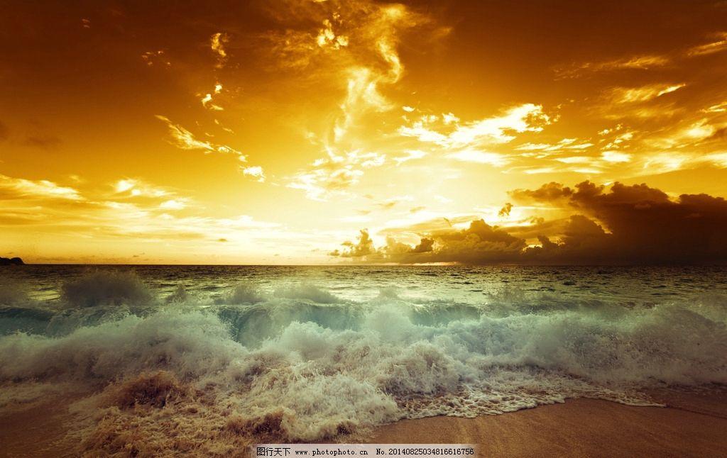 高清黄昏海滩壁纸 高清 黄昏 海边 阳光 沙滩 自然风景 自然景观 摄影
