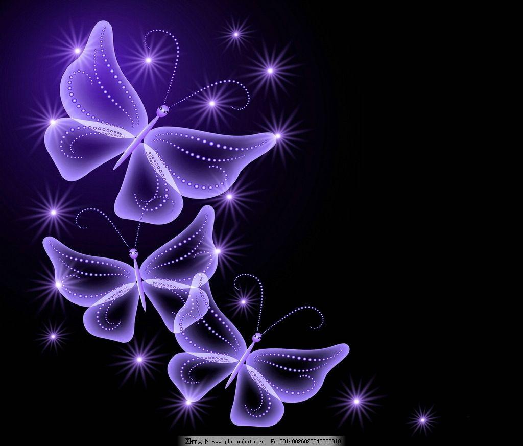 唯美蝴蝶手绘图片