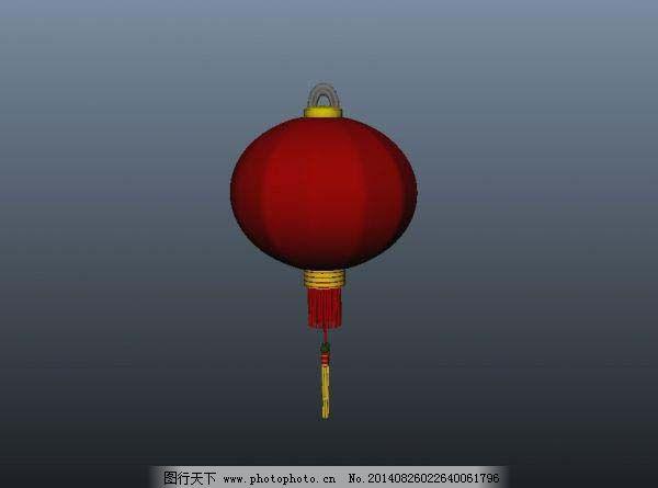 红色灯笼模型 红色灯笼模型免费下载 大气