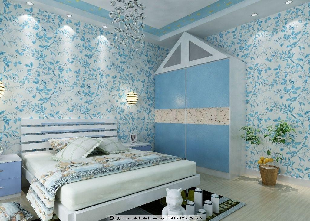纯纸墙纸美式田园花朵 欧式 壁纸 无纺布 墙纸 温馨卧室 电视背景墙图片