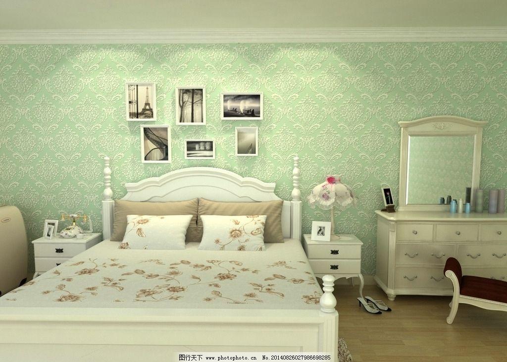 欧式无纺布壁纸卧室图片图片