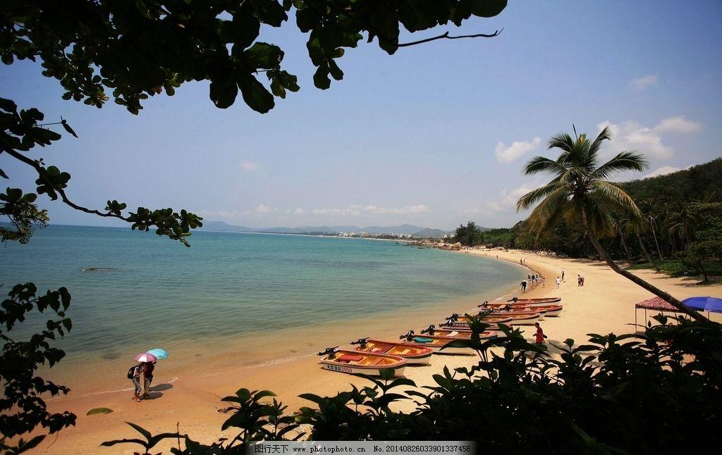 三亚 碧海 蓝天 沙滩 椰树 小船 天涯 海角 国内旅游 摄影