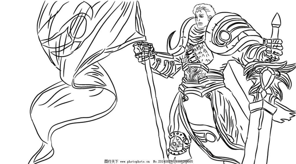 德玛西亚(手绘) 英雄联盟 lol 德玛西亚之力 盖伦 游戏 手绘 动漫人物