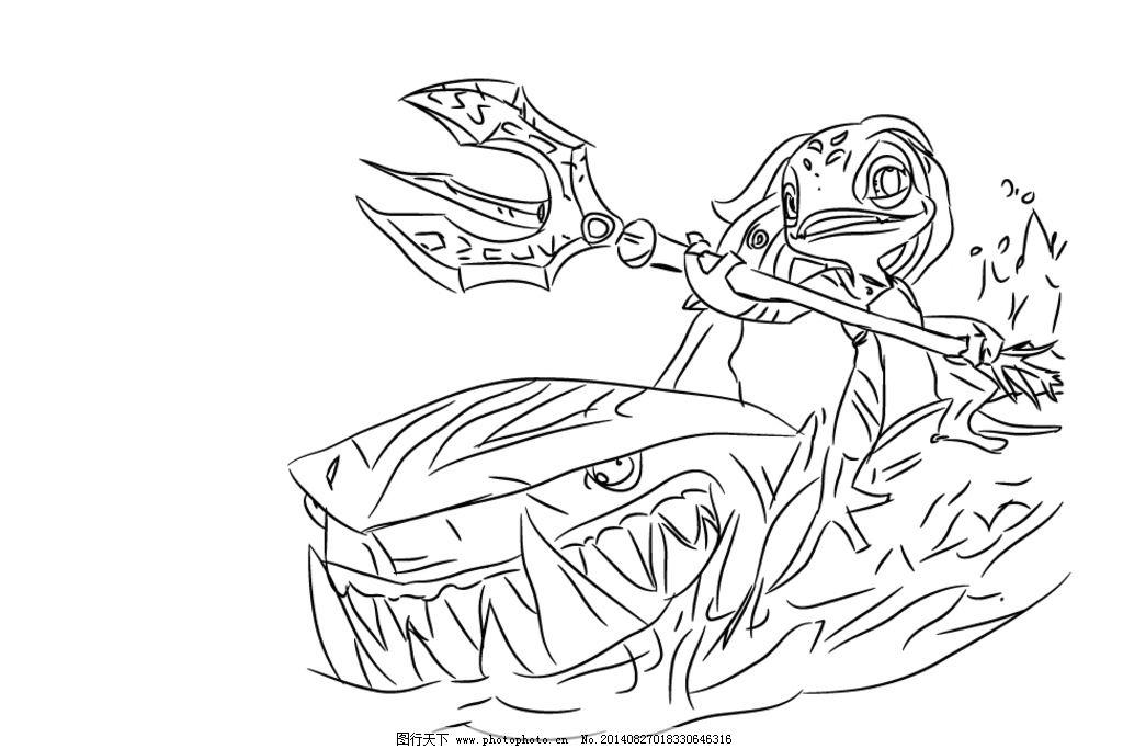 小鱼人(手绘) 英雄联盟 小鱼人 lol 潮汐海灵 游戏 动漫人物 动漫动画