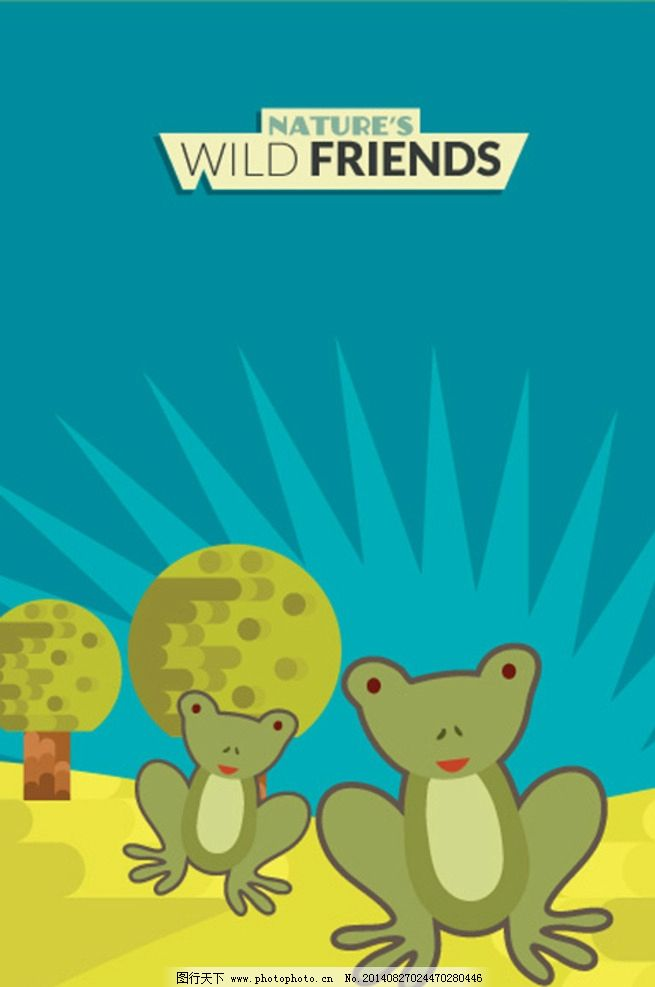 背景画 卡通插画农场 卡通设计 矢量 eps 背景底纹 生物世界 野生动物