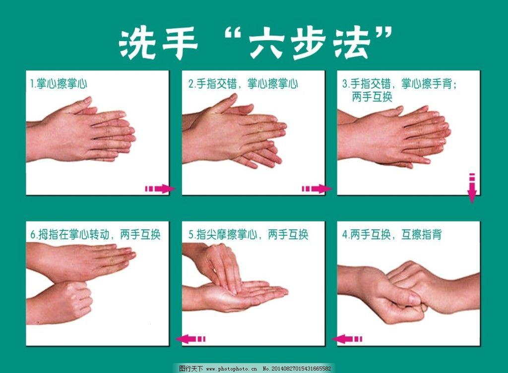 洗手六步法免费下载 洗手六步法 洗手六步法 洗手六步骤 洗手六步
