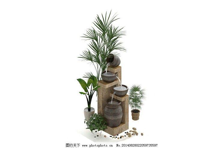 室内植物模型造型设计