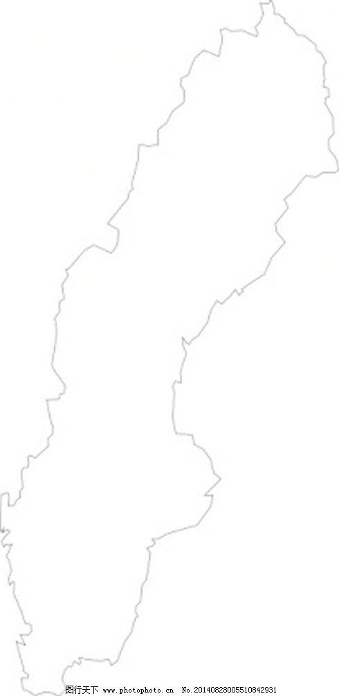 瑞典地图剪贴画-澳大利亚的地图 剪贴画