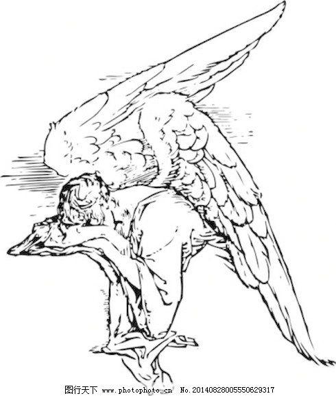 宝贝刺青的黑色轮廓 拉深凸天使 免费的flash伤心哭泣的祷告的纹身