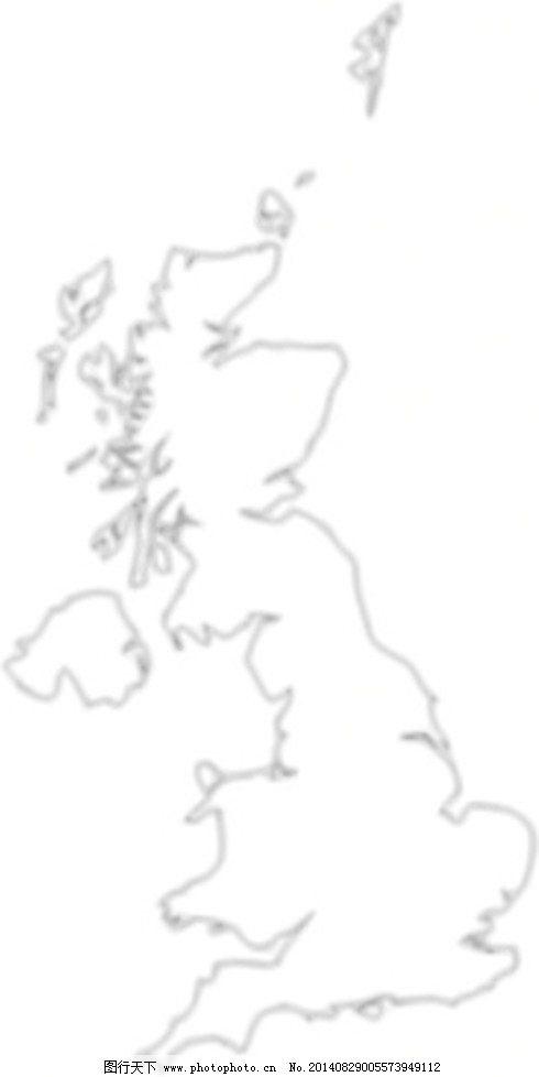 英国地图轮廓剪贴画免费下载 概述欧洲地图 英国联合王国 矢量图 文化