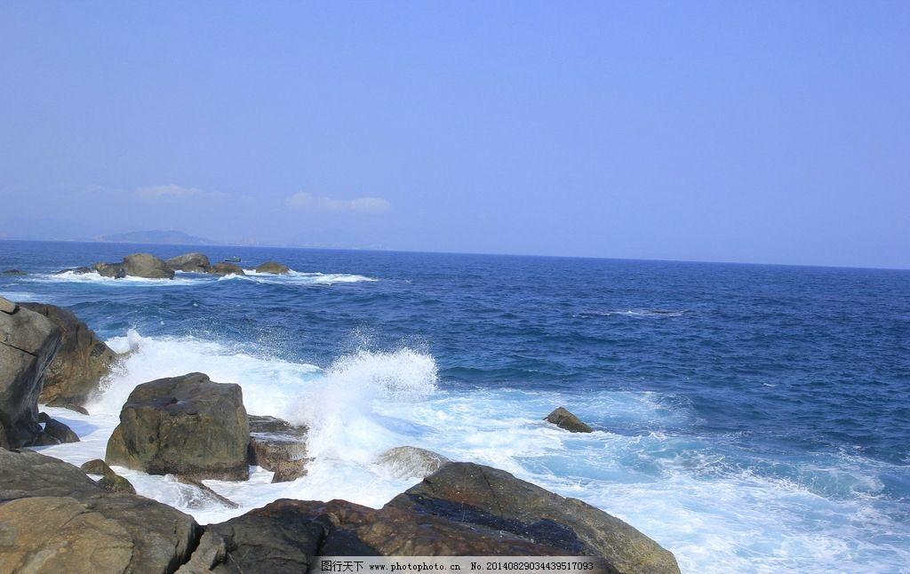 海浪 蜈支洲岛 大海 沙滩 海南岛 蓝色 山水风景 自然景观
