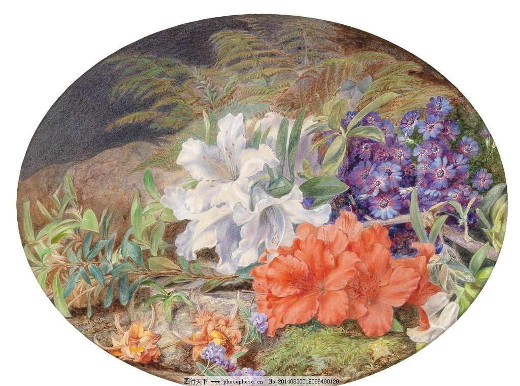 白色百合花 静物鲜花 永恒之美 玛丽马杰茨      英国女画家 1886年