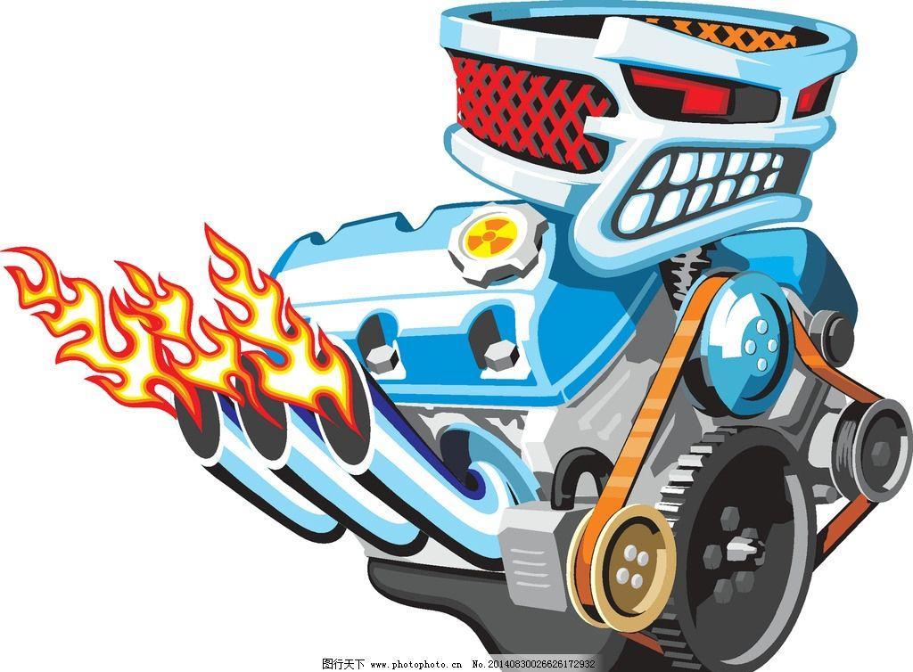 发动机 引擎 齿轮 金属 汽车发动机 手绘 机械 零件 不锈钢