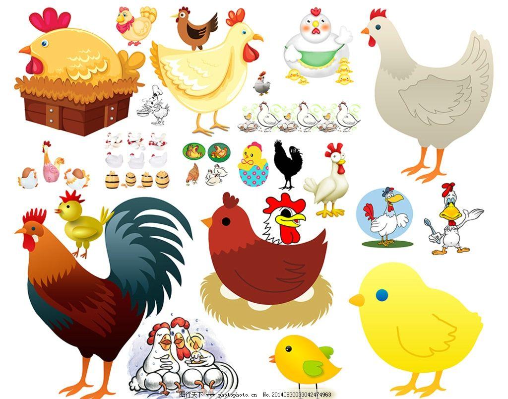 卡通母鸡图片